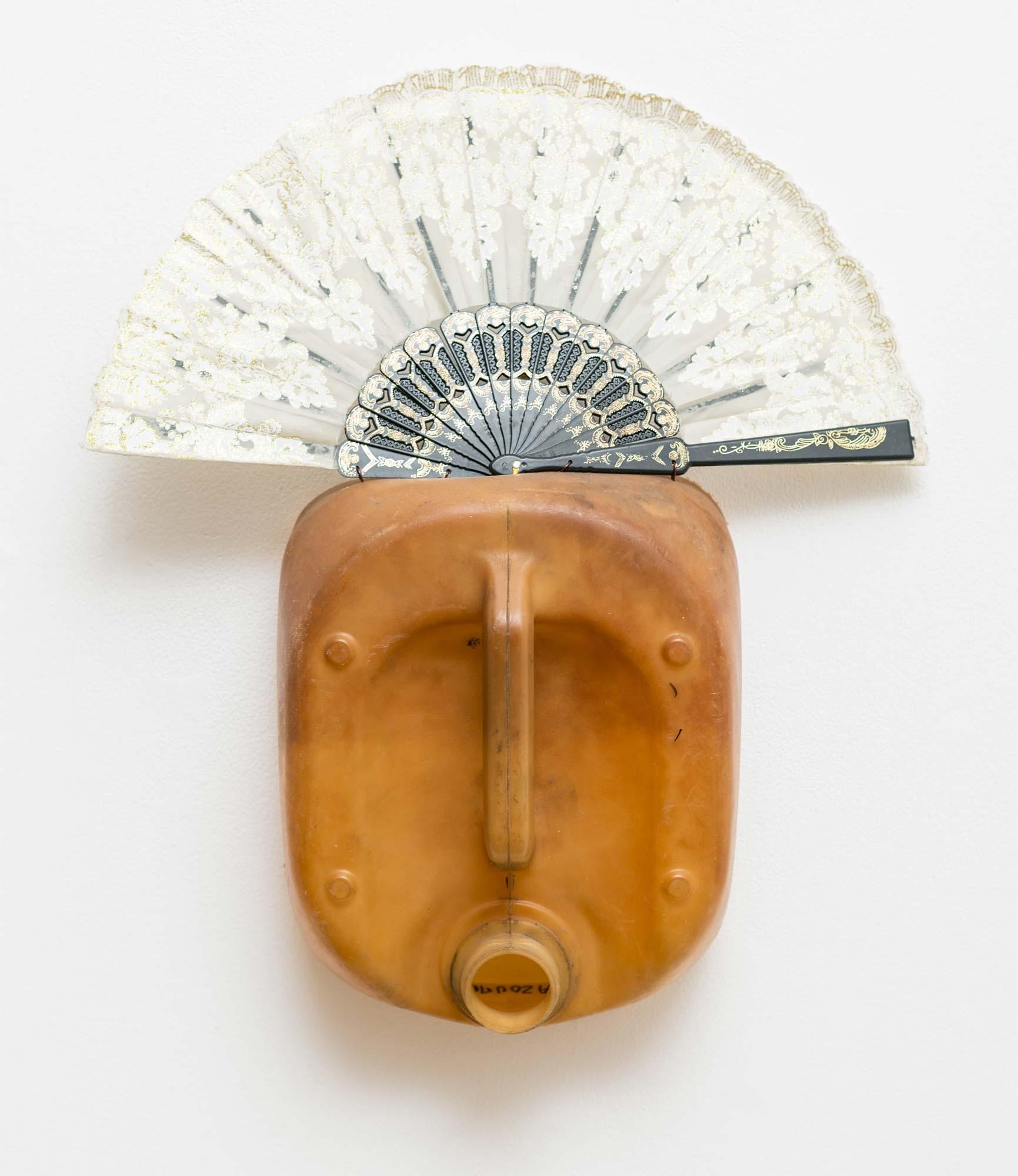 Romuald Hazoumè art, petrol tank masks