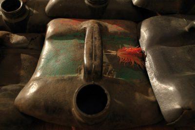 Romuald Hazoumé, La Bouche du Roi gas canister tank art