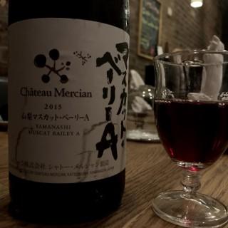 Japanese red wine in New York City restaurant