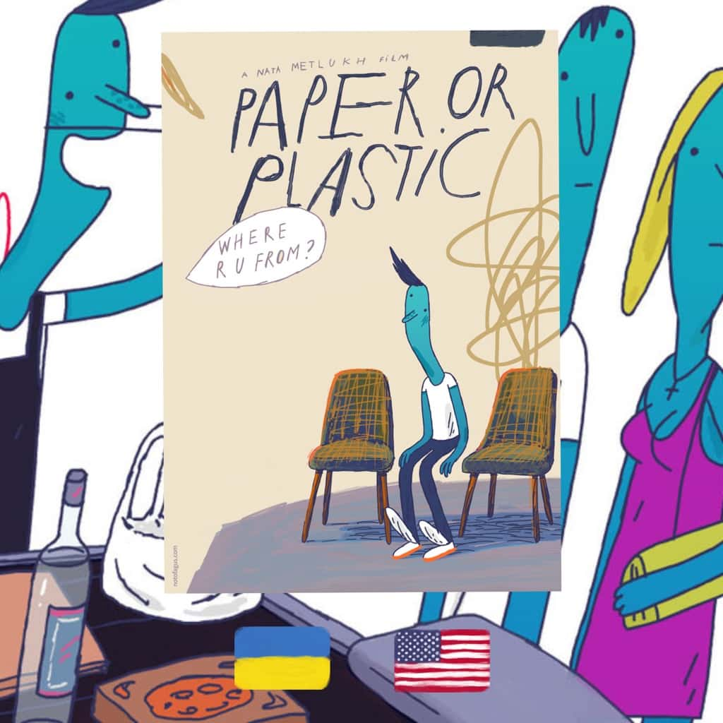 Paper or Plastic, dir. Nata Metlukh, film, cartoon, review