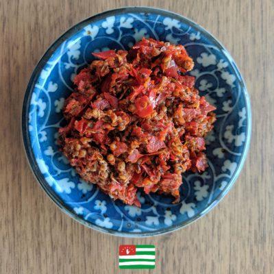 Adjika, authentic recipe