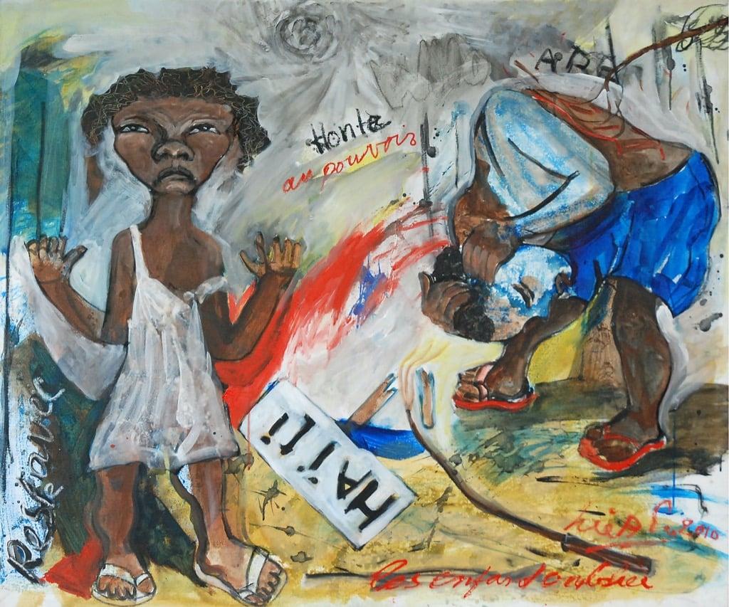 Surinamese Artist John Lie A Fo, art painting