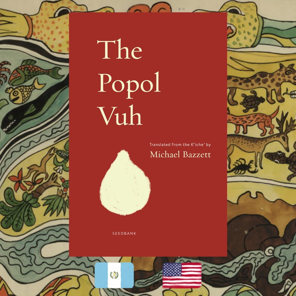 Popol Vuh, translator Michael Bazzett, book cover