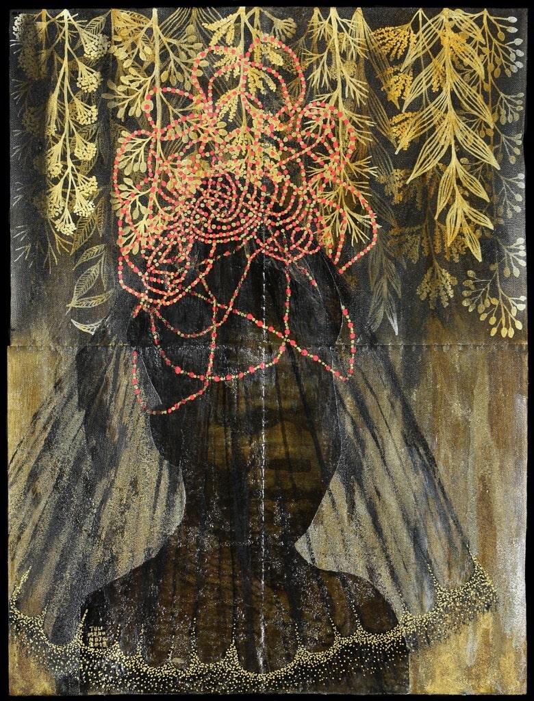 Namibian Artist Tuli Mekondjo, painting