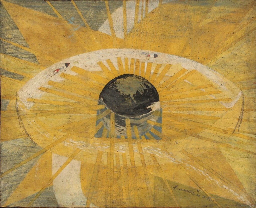 Frank Walter, Outsider Art, Painting, abstract, sun