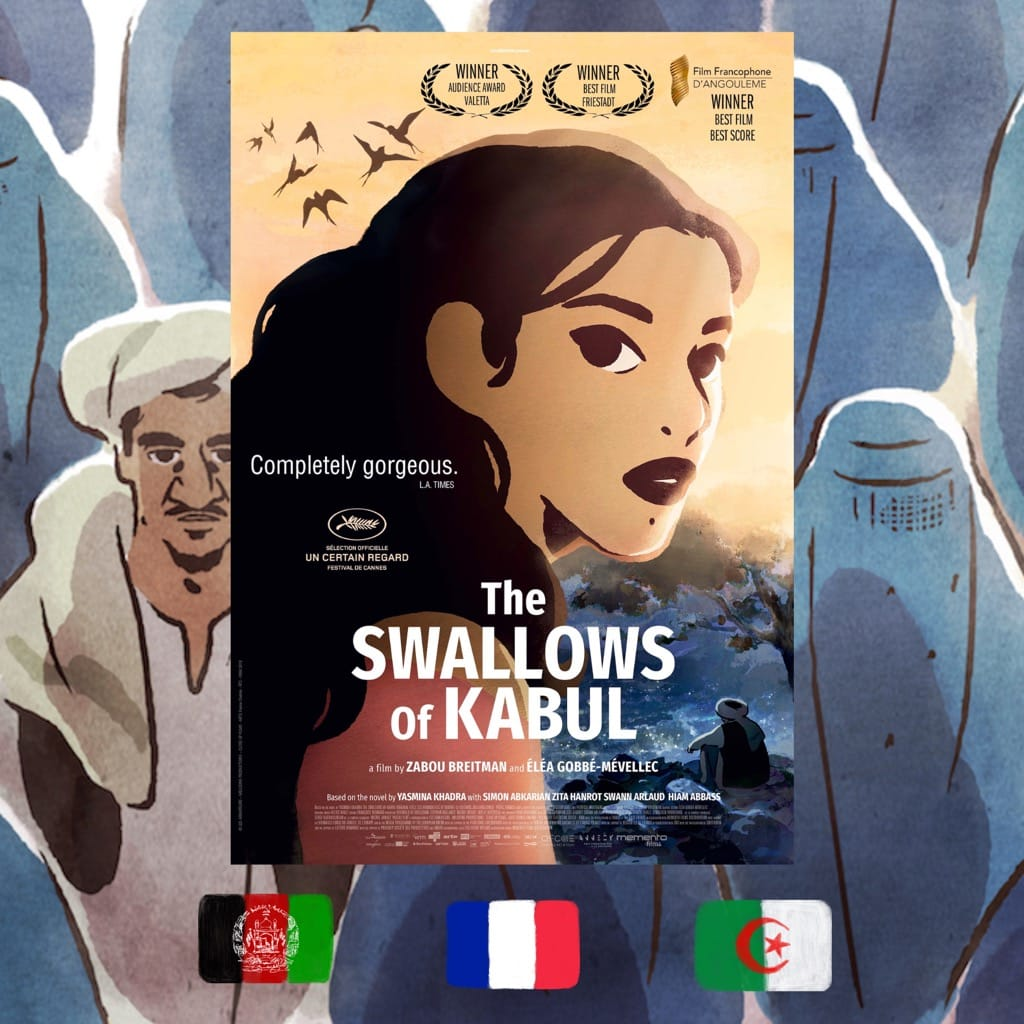 The Swallows of Kabul, Zabou Breitman, Eléa Gobbé-Mévellec, Movie poster