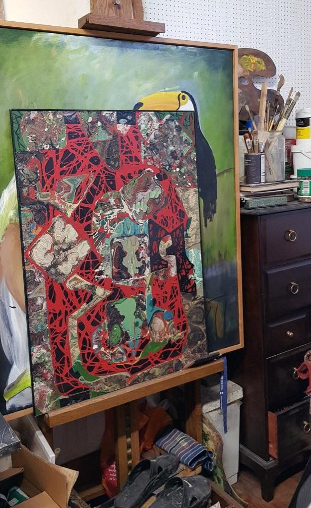 Patrick Barrington, painting abstract