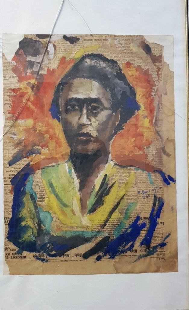 Patrick Barrington, painting, woman