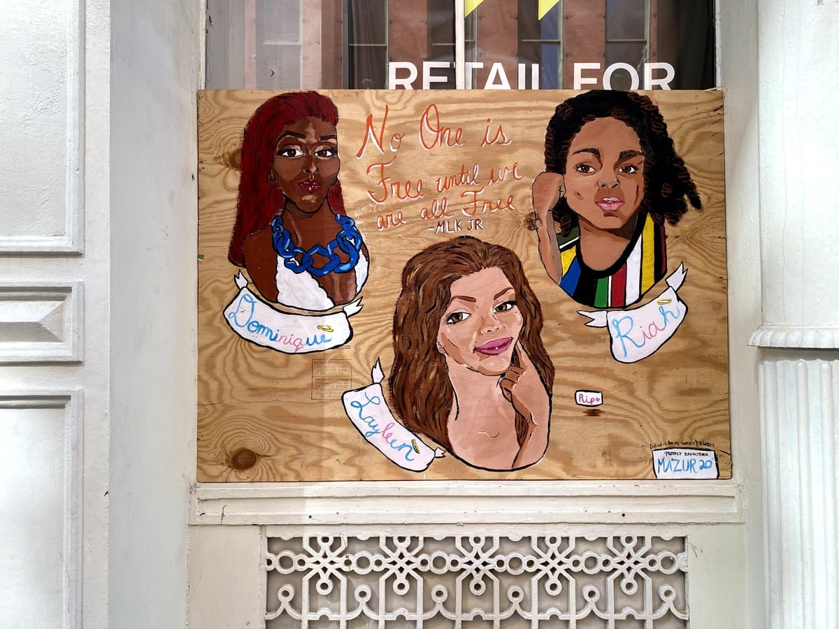 SoHo, Art, Black Lives Matter, BLM, Protests, plywood