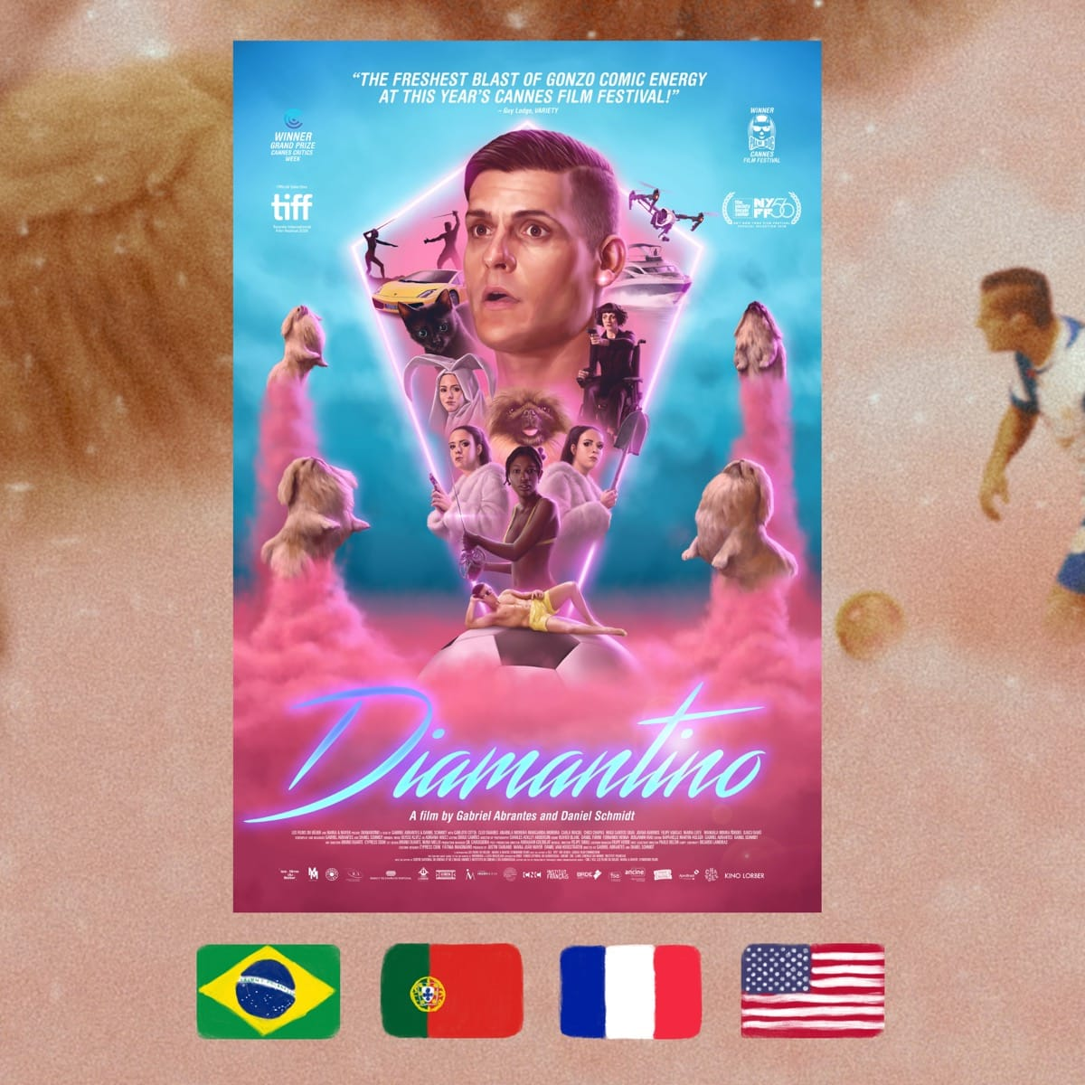 Diamantino, Gabriel Abrantes, Daniel Schmidt, movie poster